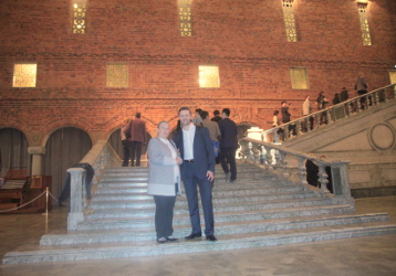 S Prof. Tatjanou Dostalovou M.D. Ph.D. DrSc. MBA ve Stockholm City Hall